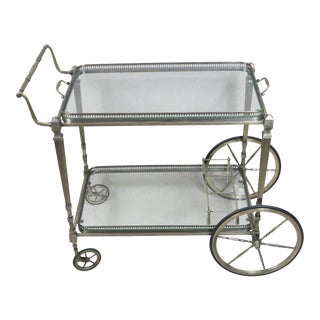 French Mid Century Serving Cart For Sale