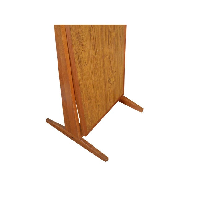 Mid 20th Century Vintage Danish Modern Teak Full Length Floor Mirror by Pedersen & Hansen For Sale - Image 5 of 13