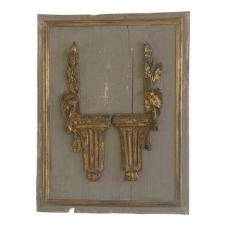Antique Italian Fragments on Reclaimed Wood For Sale