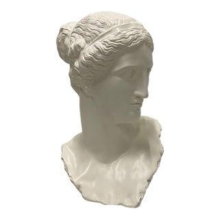 Romantic Fiberglass Bust of Diana, Sculpture For Sale