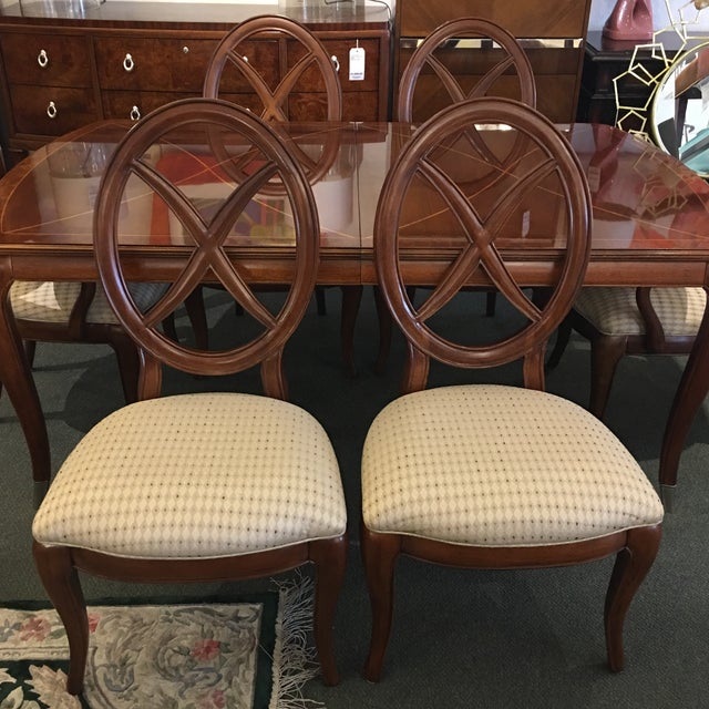 Thomasville Bogart Collection Dining Set - Set of 7 For Sale - Image 5 of 11