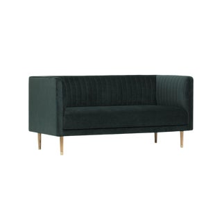 Classic Green Velvet Sofa For Sale