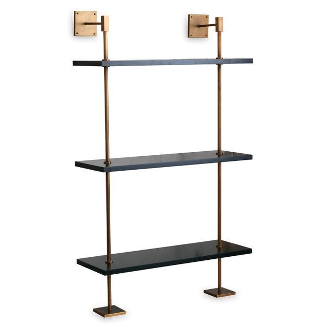 Marais 3-Tier Black & Brass Shelf For Sale In Chicago - Image 6 of 6
