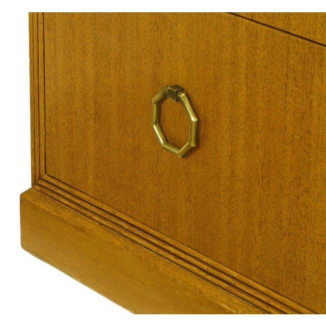 Rare Pair of 1940s Edward Wormley for Dunbar Ribbon Mahogany Chests For Sale - Image 9 of 9