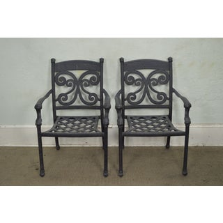 Cast Aluminum Patio Dining Table & 6 Chair Set Preview
