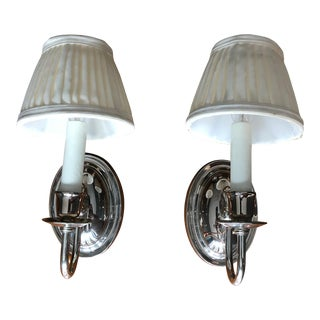 Waterworks Nickel Sconces - a Pair For Sale