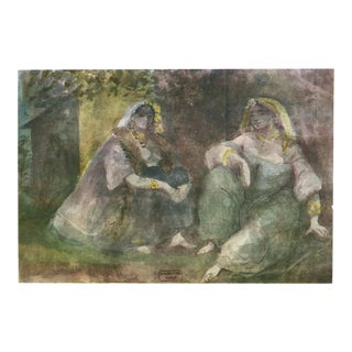 "Boho Chic Lithograph ""Women of Algiers"" by Constantin Guys For Sale"