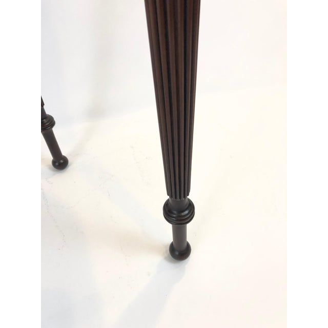 Metal Traditional Federal Style Cherry Console Table For Sale - Image 7 of 9