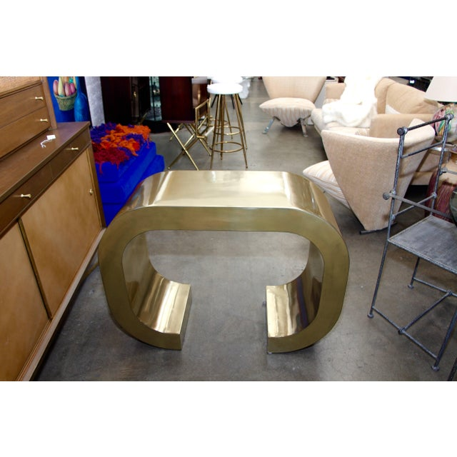 Bridges Over Time Originals Brass Coated Console For Sale - Image 10 of 10