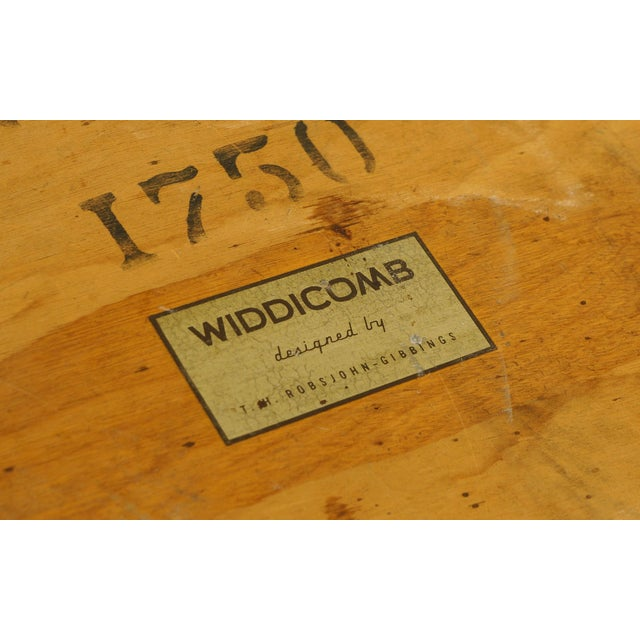 Gold Early Robsjohn-Gibbings Coffee or Side Table, Organic Walnut Form For Sale - Image 8 of 8