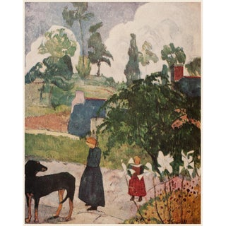 """1940s Paul Gauguin """"Landscape in Brittany"""", First Edition Parisian Lithograph For Sale"""