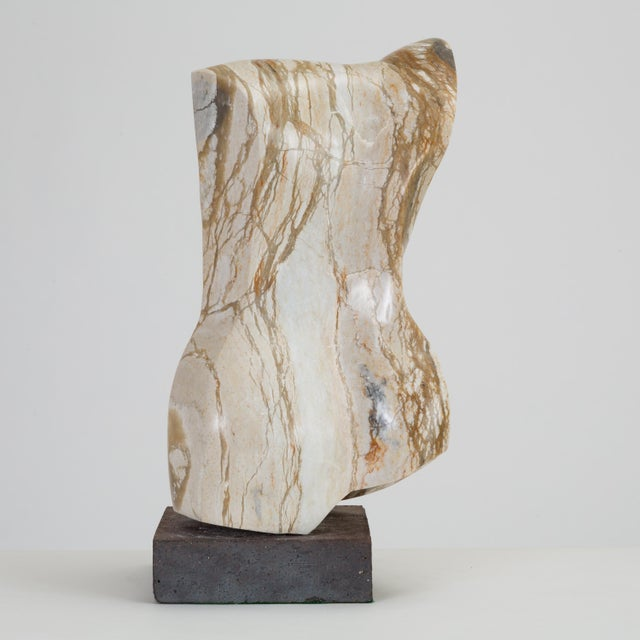 Abstract Torso Sculpture on Stone Mount For Sale In Los Angeles - Image 6 of 12