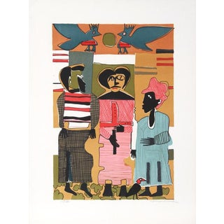 "Romare Bearden ""Firebirds"" Lithograph For Sale"