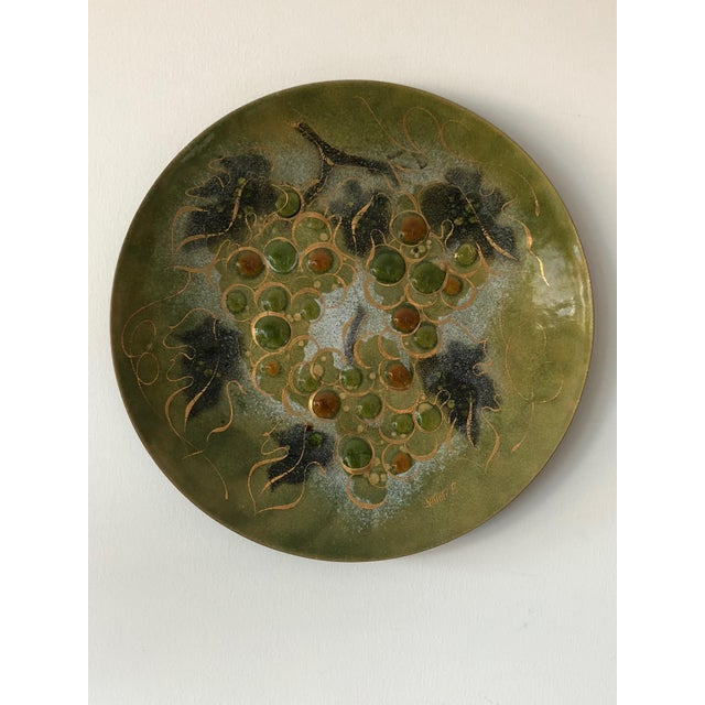 Enamel Sascha Brastoff Enamel Charger For Sale - Image 7 of 7