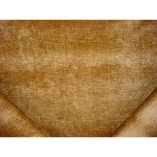 5-1/8 Gaston Y Daniela River Camel Yellow Velvet Drapery Upholstery Fabric For Sale