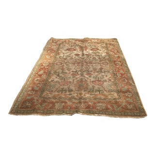Late 20th Century Indian Hand-Knotted Wool Rug - 5′3″ × 8′3″ For Sale