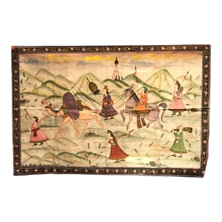 Hand Painted Silk Caravan by Day For Sale