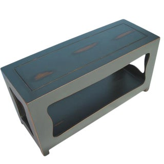 Blue Chinoiserie Console Table