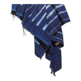 Nene Indigo African Mud Cloth For Sale