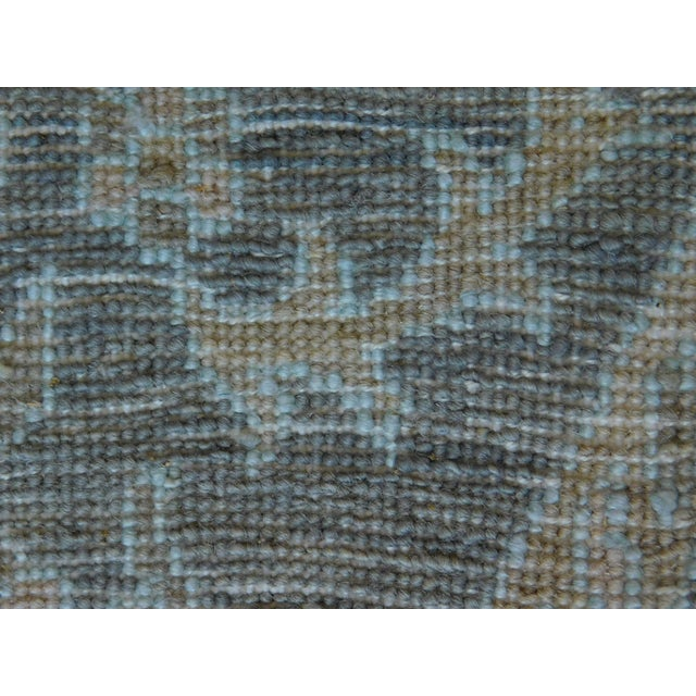 Textile Hand Knotted Indian Ikat Rug - 9′ × 12′ For Sale - Image 7 of 12