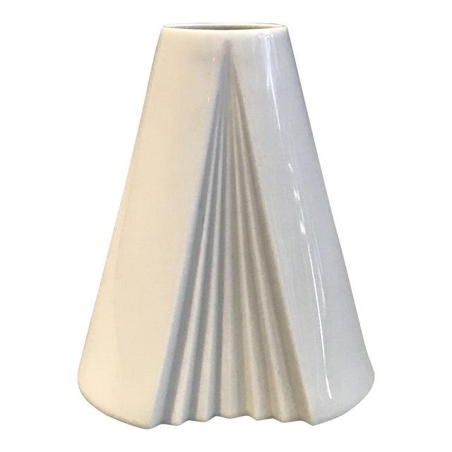 Ambrogio Pozzi, Rosenthal Geometric Op Art Lady's Gown Porcelain Vase For Sale