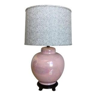 Oversize Ceramic Lamp & Shade