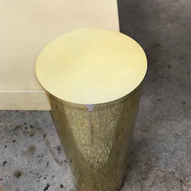 Enrique Garcel Goatskin and Brass Coffee or Cocktail Table For Sale - Image 11 of 13