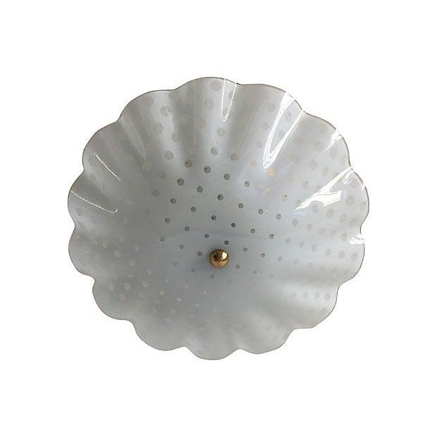 Ruffled Polka Dot Flush Light For Sale In Austin - Image 6 of 8
