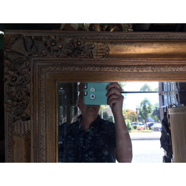 Large Gold Mirror For Sale - Image 4 of 13