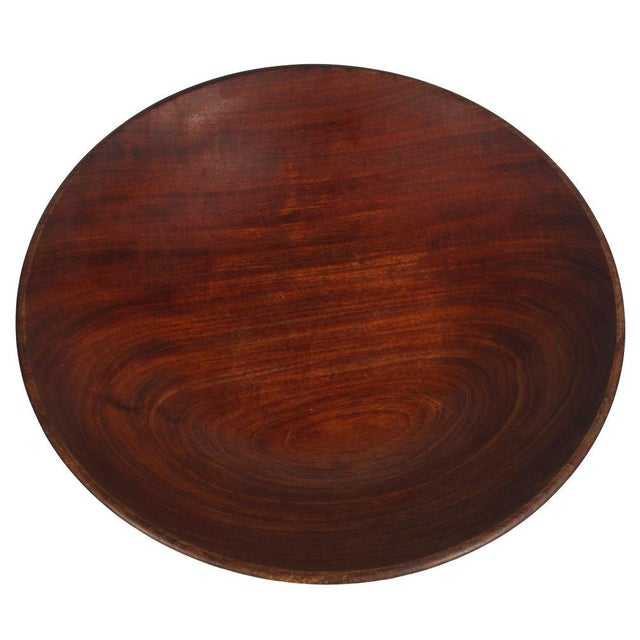 A substantial Studio Craft lathe turned fruit bowl in Mahogany from Guatemala. By Bob Stocksdale. American, circa 1960....