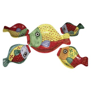Italian Ceramics Fish Plates - Set of 5