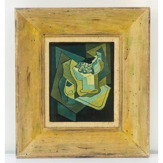 "1940s Vintage Juan Gris ""Grapes"" Still Life Lithograph on Plaster For Sale - Image 9 of 9"