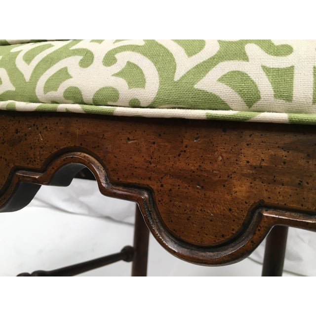 French Oak Cane Back Upholstered Chairs - A Pair - Image 8 of 11