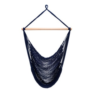 Navy Blue Cotton Hammock Swing For Sale