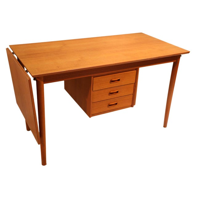 Arne Vodder Mid-Century Danish Teak Drop Leaf Desk - Image 10 of 10