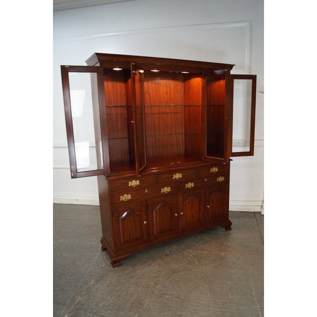 Henkel Harris Solid Cherry 2 Piece Breakfront China Cabinet - Image 6 of 10