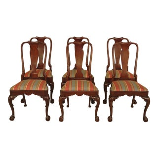 Kindel Walnut Claw Foot Dining Chairs - Set of 6