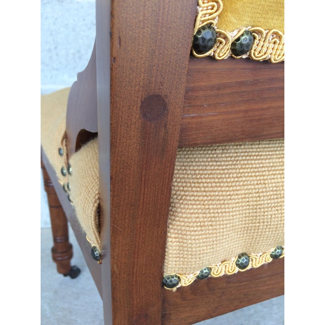 Pair of Victorian Eastlake Needle Point His & Hers Accent Chairs For Sale - Image 10 of 11