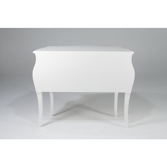 Wood 1990s Hollywood Regency Fendi Moviestar Glamorous White Lacquer Commode For Sale - Image 7 of 12