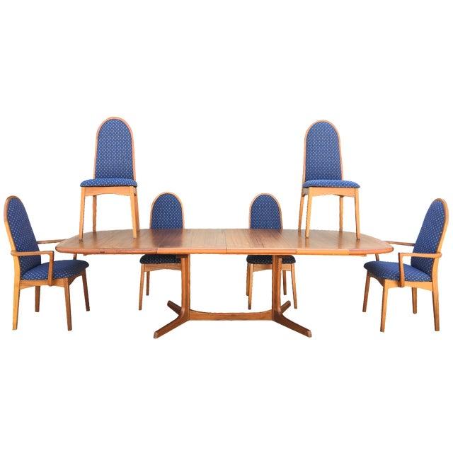 Mid-Century Dyrlund Teak Dining Set - Image 1 of 11