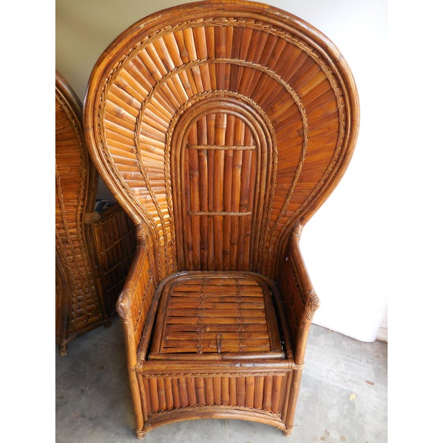 Vintage Bamboo Peacock Chairs - A Pair - Image 7 of 8