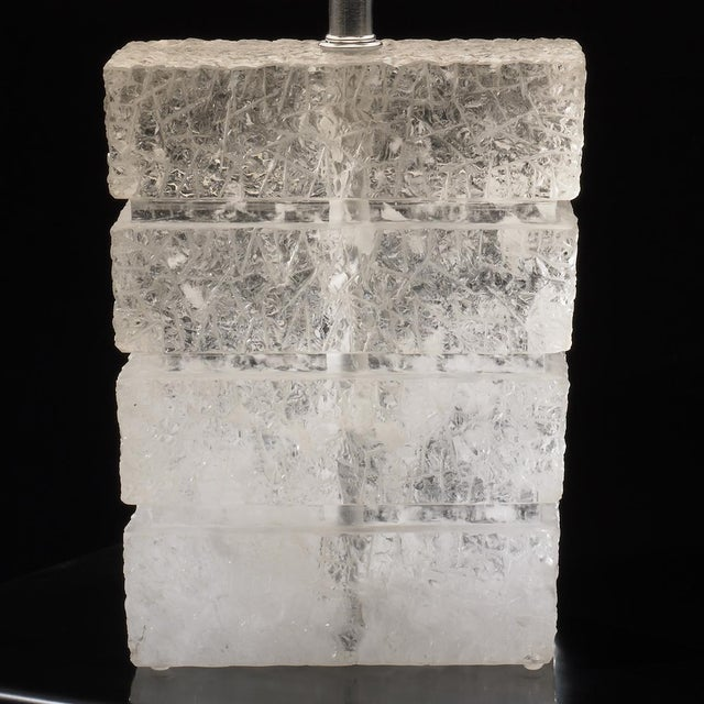 Contemporary Traxx Lamp - Crystal For Sale - Image 3 of 3