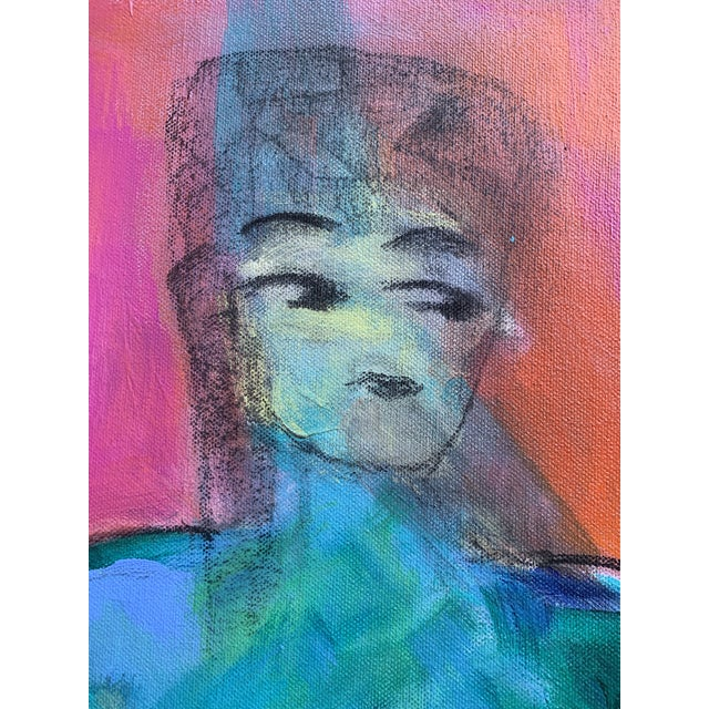 """Contemporary Figurative Painting by Robin Okun Art, """"Over Here"""" For Sale In Boston - Image 6 of 11"""