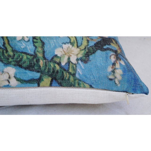 """Chic Van Gogh Inspired Cherry Blossom Linen Feather/Down Accent Pillow 17"""" - Image 5 of 6"""