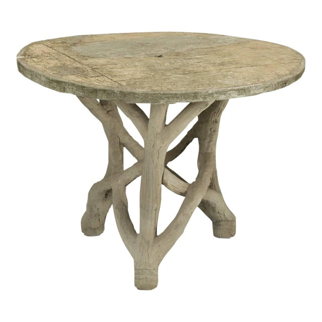 Faux Bois Table Attributed to Edouard Redont, Circa 1900 For Sale