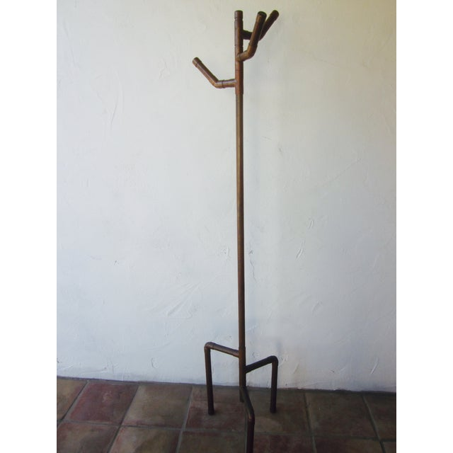 Modernist Copper Coat Rack Hat Tree - Image 4 of 11