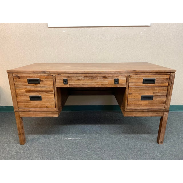 Reclaimed Wood Champagne Desk For Sale - Image 10 of 10