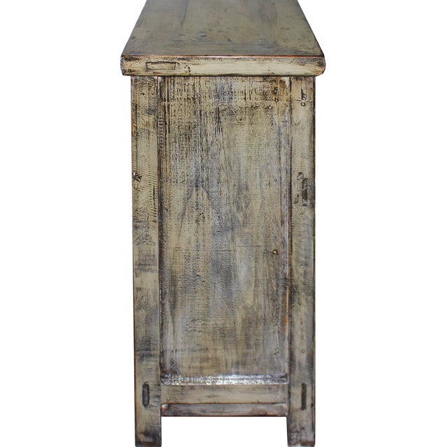 Khaki Shabby Chic Side Chest - Image 6 of 6