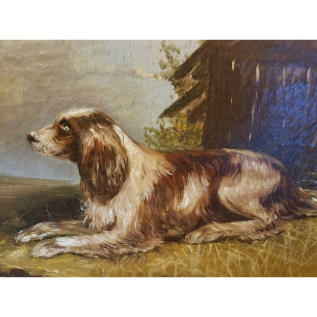 19th C. English Springer Spaniel Dog Painting For Sale - Image 4 of 7