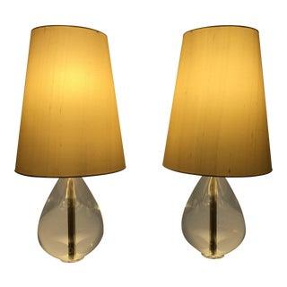 jonathan adler robert abbey crystal teardrop lamps a pair - Robert Abbey Lamps